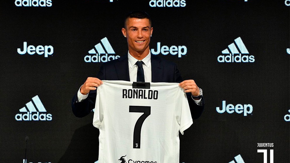 Cristiano, presentado como nuevo jugador de la Juventus.