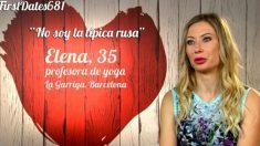 Elena solo quería alguien listo para ella en 'First dates'. (Foto: Cuatro)