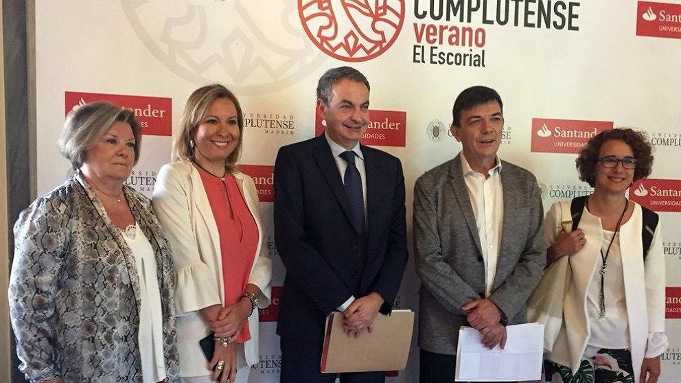 José Luis Rodríguez Zapatero, ex presidente del Gobierno, en los cursos de verano de la Complutense. (EP)