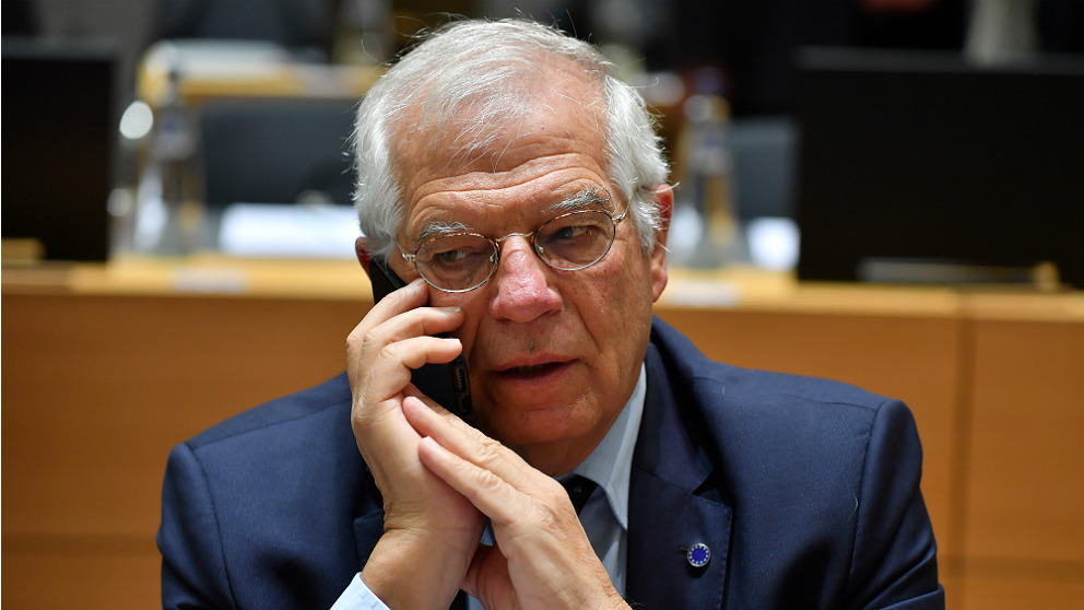 El ministro de Exteriores, Josep Borrell, en Bruselas. (AFP)