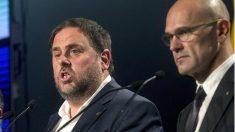 El ex vicepresidente de la Generalitat Oriol Junqueras y el ex conseller Raül Romeva.