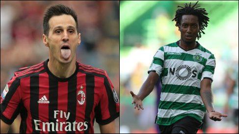 Kalinic y Gelson Martins, muy cerca de vestir la camiseta del Atlético. (Getty)