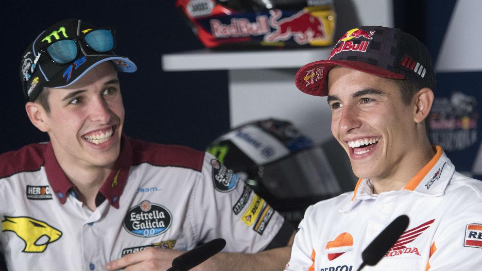 Marc Márquez ha sido el gran responsable de que su hermano Álex no suba a MotoGP el año que viene, quedándose en Moto2. (getty)