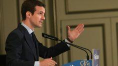Pablo Casado en un desayuno informativo del Nueva Economía Forum. Foto: EFE