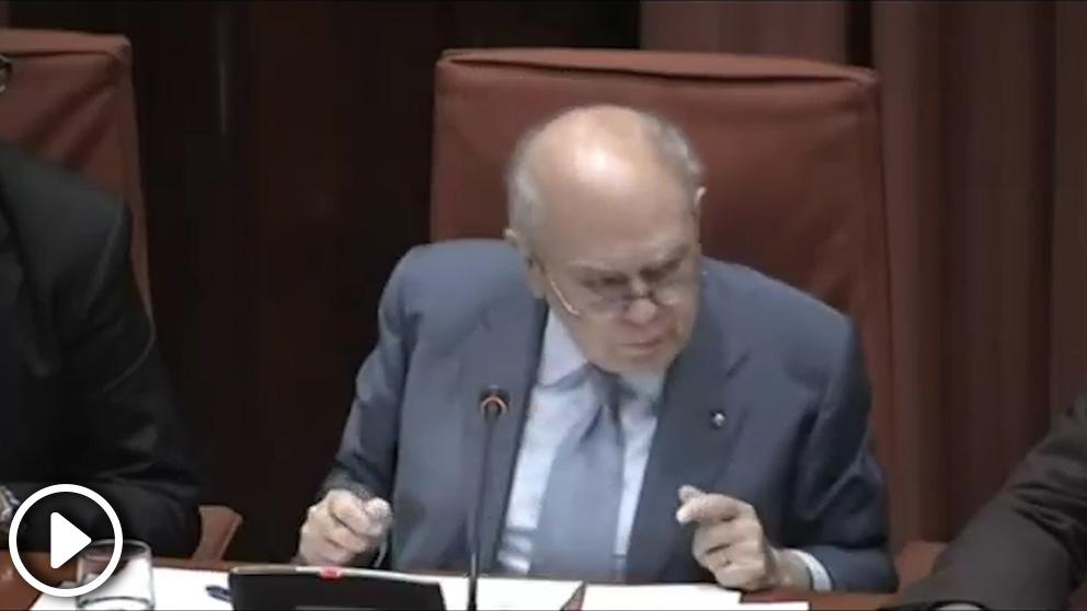 Las amenazas de Jordi Pujol en el Parlament en septiembre de 2014