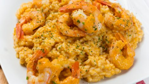 Receta de arroz con gambas al curry
