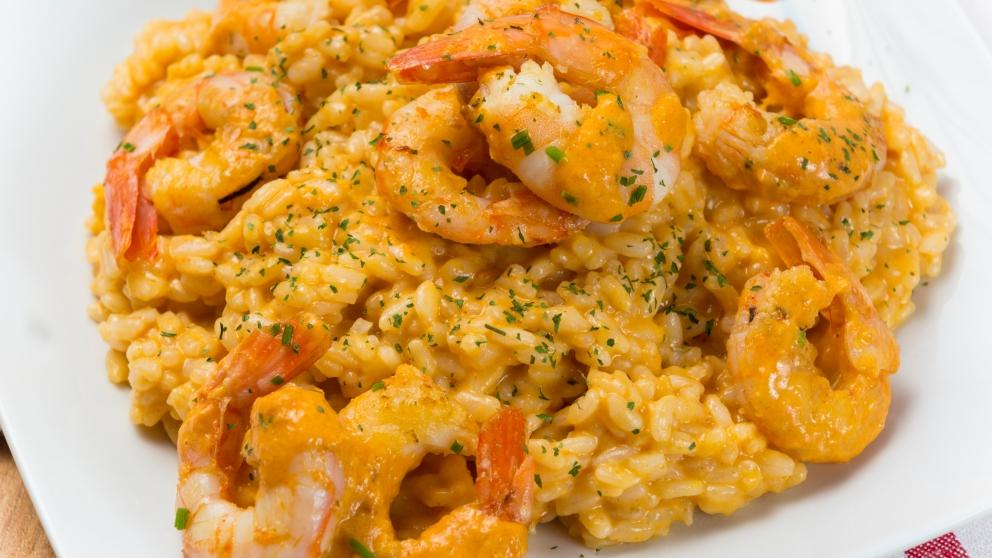 Receta de arroz con gambas al curry