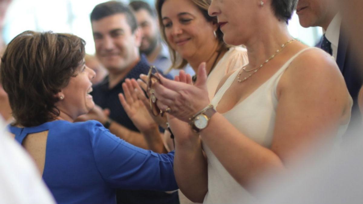 Soraya Sáenz de Santamaría este lunes (RRSS).