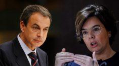 José Luis Rodríguez Zapatero y Soraya Sáenz de Santamaría.