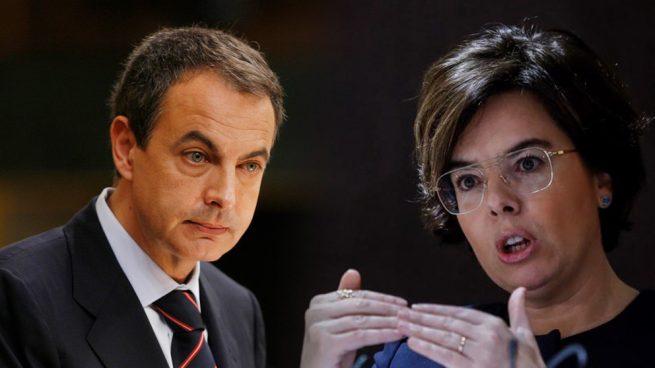 José Luis Rodríguez Zapatero y Soraya Sáenz de Santamaría