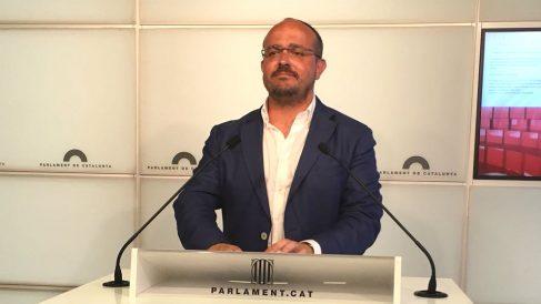 Alejandro Fernández, portavoz del PP en el Parlament de Cataluña. (EP)