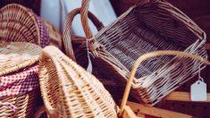 Cómo hacer una cesta de mimbre