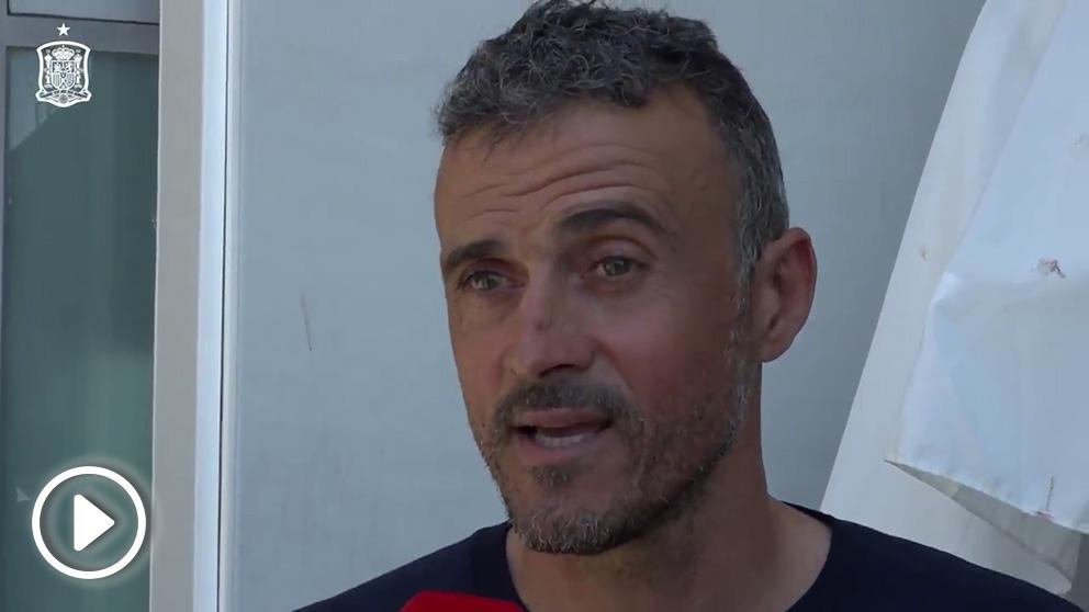 Luis Enrique estuvo por primera vez en Las Rozas como seleccionador español.