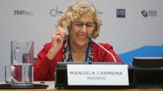 Manuela Carmena en un acto de la ONU, en Nueva York. (Foto. Madrid)