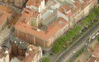 Vista aérea de la céntrica parcela de Valladolid en que Puente compró su casa por 290.000 euros.