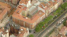 Vista aérea de la céntrica parcela de Valladolid donde Óscar Puente compró su casa por 290.000 euros (Foto: Bing Maps).