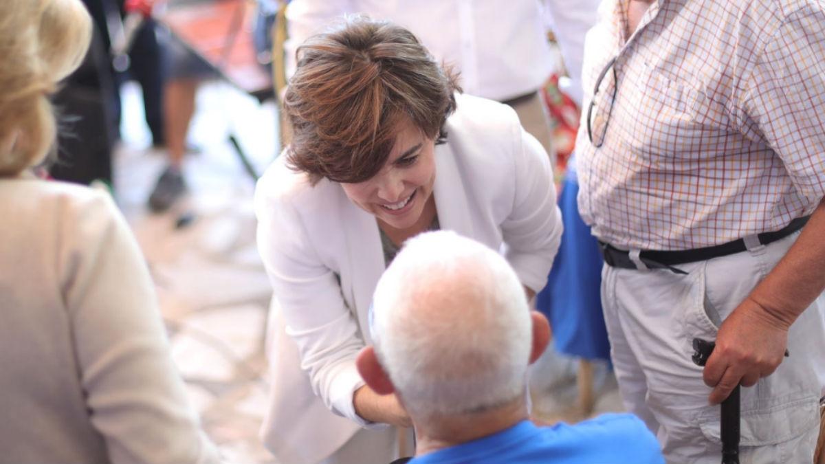 Soraya Sáenz de Santamaría este martes (RRSS).
