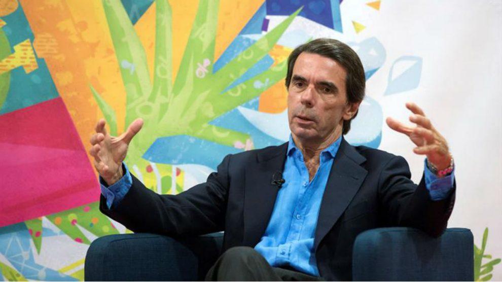 José María Aznar este miércoles (EFE).