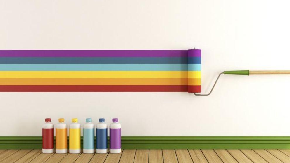 C mo pintar rayas horizontales en la pared - Paredes rayas horizontales ...