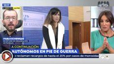 Pablo Echenique insulta a dos periodistas de 'Espejo Público' a cuenta de las primarias de Podemos en Andalucía
