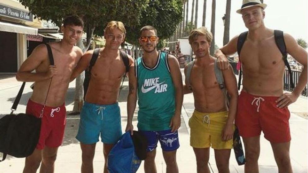Hazard, durante sus vacaciones en Marbella.