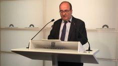 Miquel Iceta, en el Parlament. (EP)