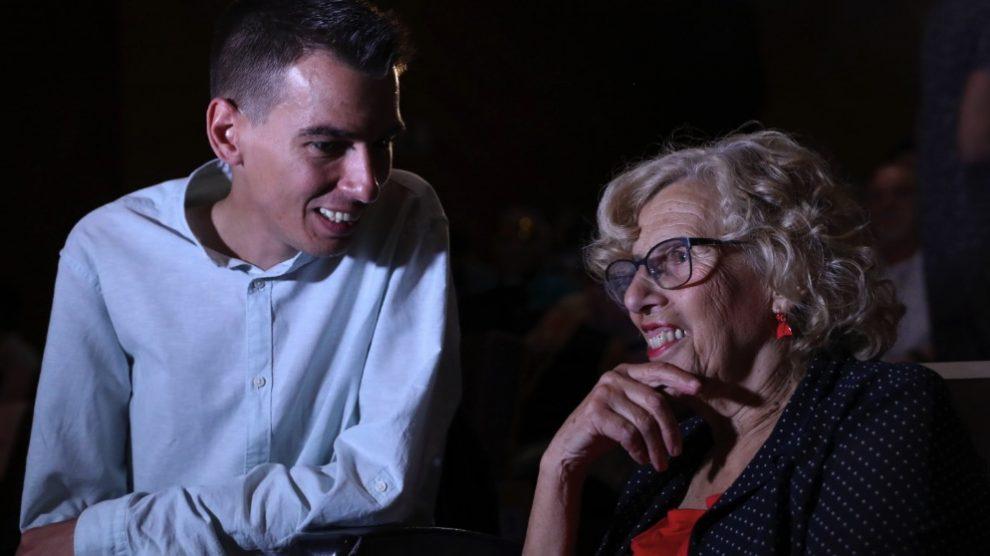 Pablo Soto y Manuela Carmena. (Foto. Madrid)