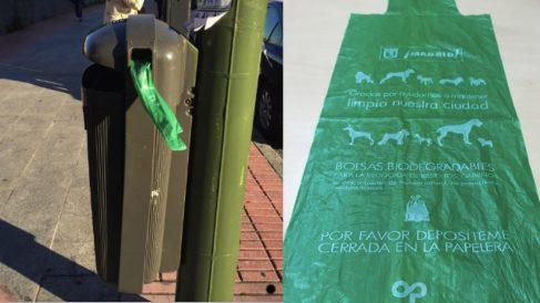 Papelera con expendedor de bolsas. (Fotos. Madrid)