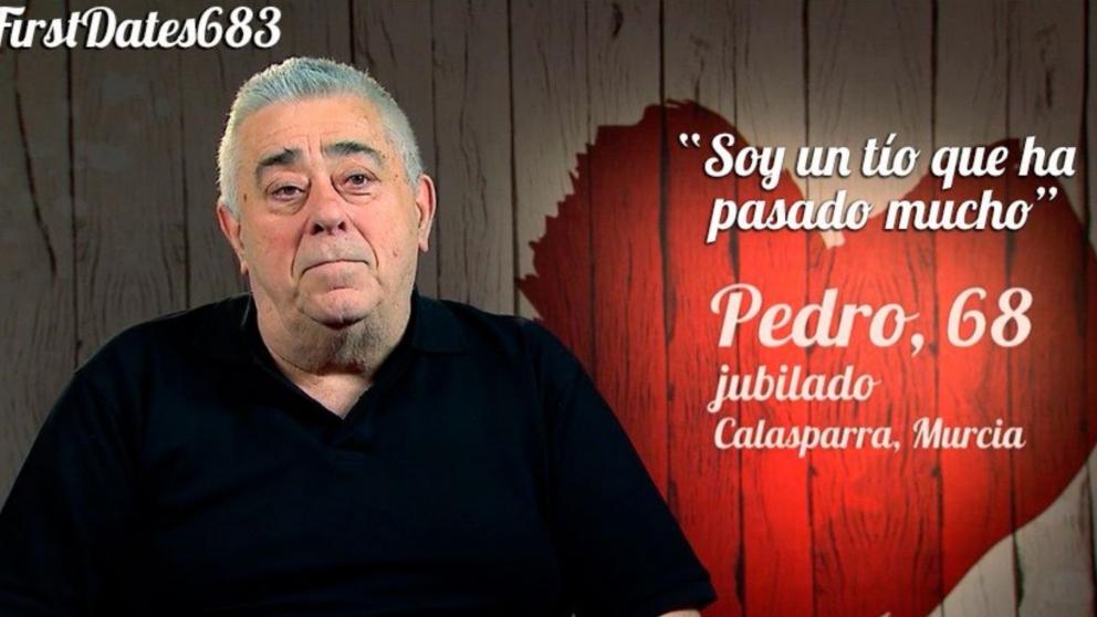 Pedro ha relatado su pasado en 'First Dates'