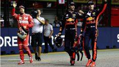 Daniel Ricciardo ha reconocido que considera a Max Verstappen mejor piloto que Sebastian Vettel, a quién batió claramente en Red Bull cuando fueron compañeros en 2014. (Getty)