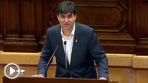 El portavoz de ERC en el Parlament, Sergi Sabrià. (Foto: EFE)