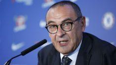Sarri, durante su presentación con el Chelsea. (AFP)