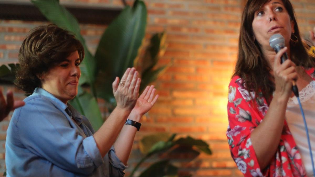 Soraya Sáenz de Santamaría en un acto esta tarde con Alicia Sánchez Camacho, Fátima Báñez e Isabel Tocino.
