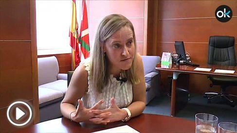 Amaya Fernández durante la entrevista.