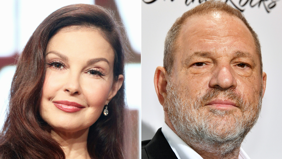 Ashley Judd y Harvey Weinstein. (Foto: AFP)