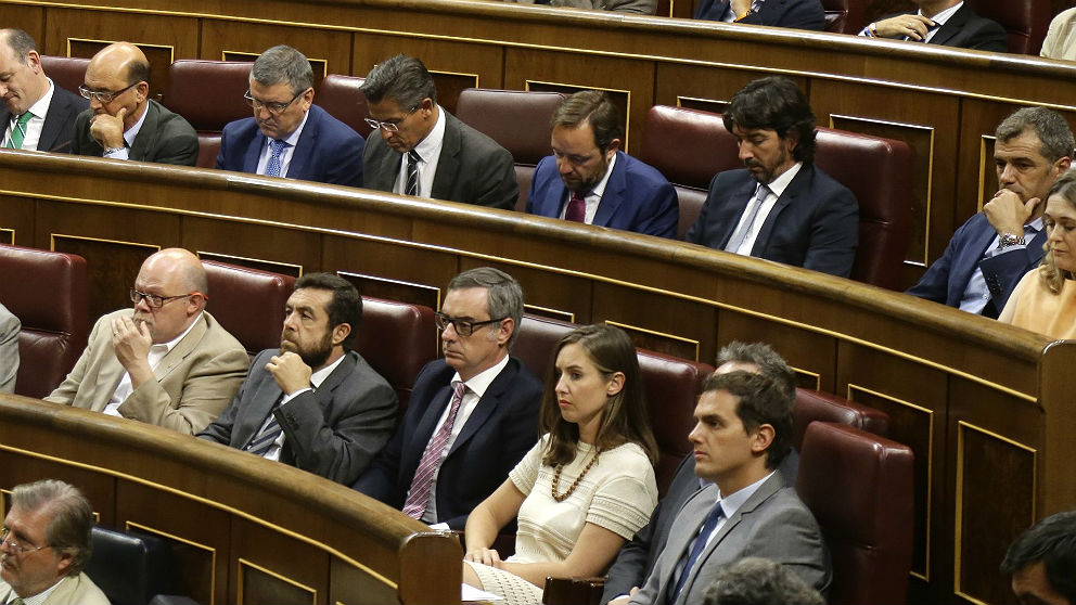 Bancada de Ciudadanos en el Congreso de los diputados. (EP)
