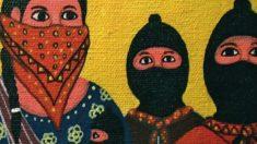 Cartel de la exposición zapatista.