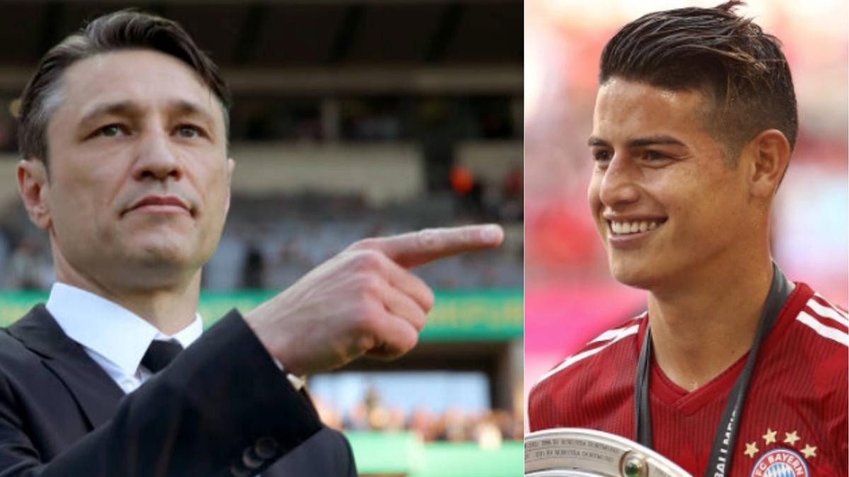 Kovac y James Rodríguez, en sendas fotos de archivo.