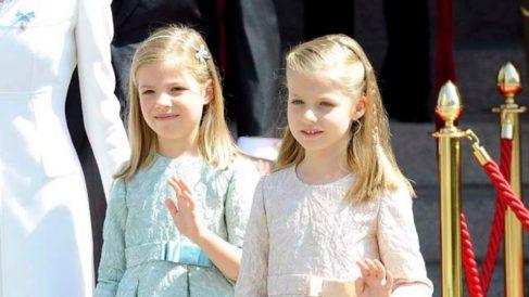La princesa leonor y su hermana la infanta sofía con trenzas