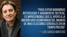 El artículo de Luis García Montero para 'Infolibre' (Foto: 'Infolibre')