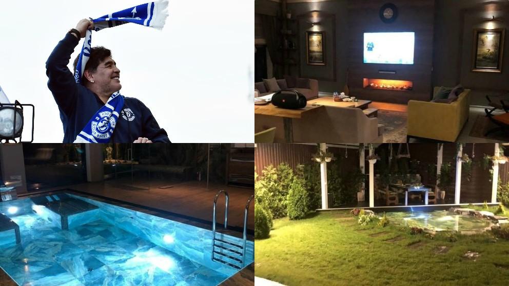 La mansión de 20 millones de dólares en la que vivirá Maradona en Bielorrusia.