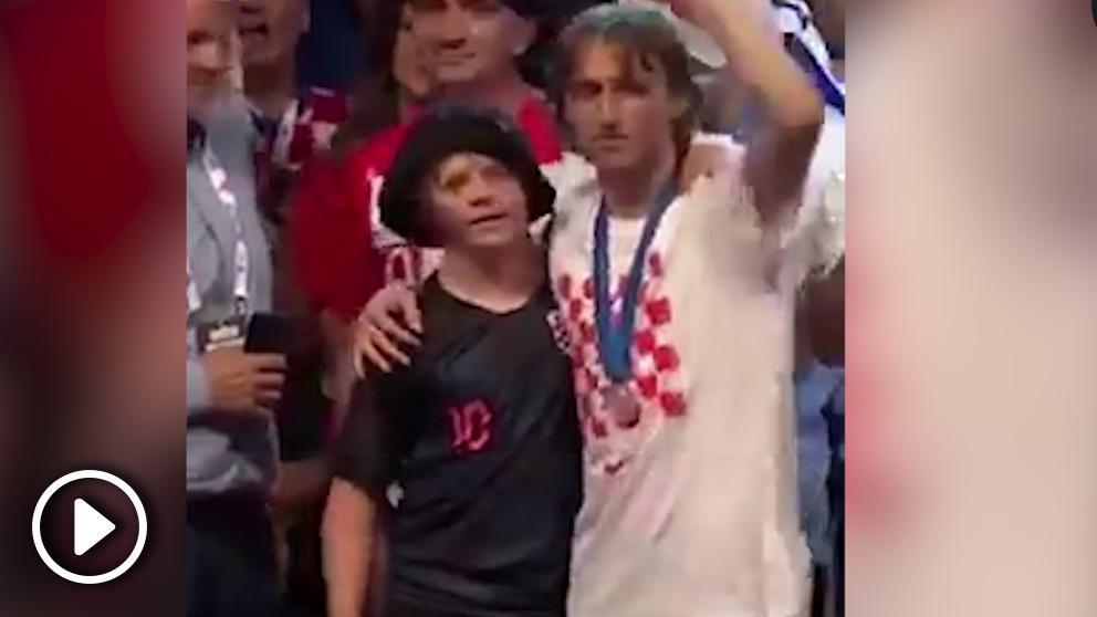 Luka Modric celebra el subcampeonato del mundo.