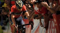 Vicenzo Nibali durante la etapa del Alpe D'Huez en el Tour de Francia 2018. (AFP)