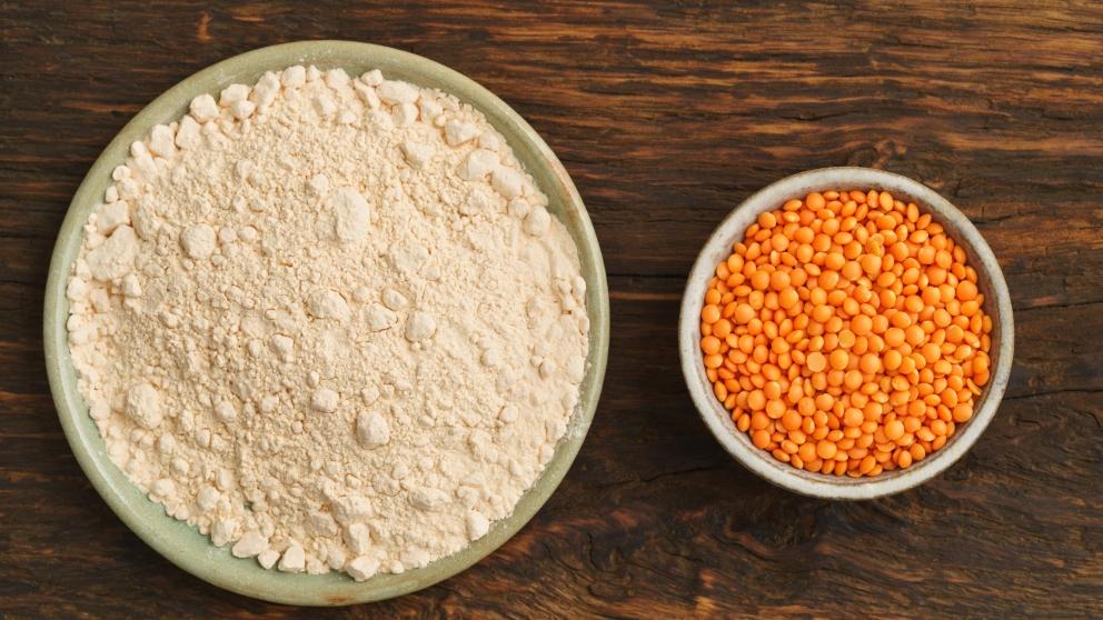 Receta de harina de lentejas