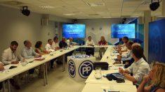Reunión del comité de dirección del PP de Aragón. (Foto. EP)