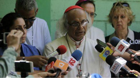 Leopoldo Brenes, arzobispo de Managua, carga contra el presidente de Nicaragua Daniel Ortega. Foto: AFP