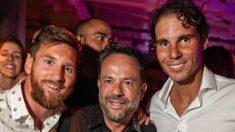 Leo Messi posa junto a Rafa Nadal en Ibiza.