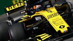 Carlos Sainz durante la clasificación del GP de Alemania. (Getty)