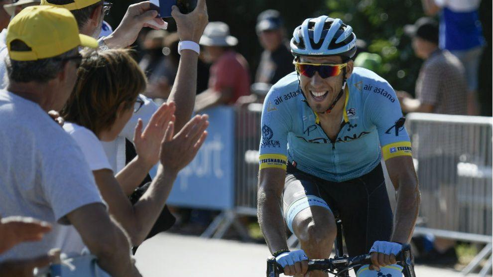 Omar Fraile, durante la etapa 14 del Tour de Francia 2018. (AFP)