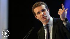 Pablo Casado durante su intervención en el Congreso del PP. Foto: EFE